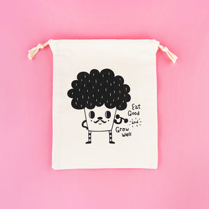 Eat Good and Grow Well Drawstring Pouch