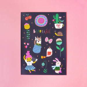 Look At The Beautiful World Around You Sticker Sheet - Minifanfan