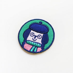Little Girl Sticker Patch or Pin