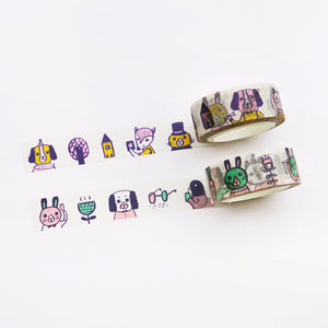 Animal Doodles 1 Washi Tape / Limited Edition