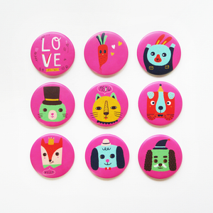 Love Animals Badge or Magnet