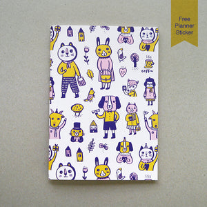 Animal Doodles 1 Notebook