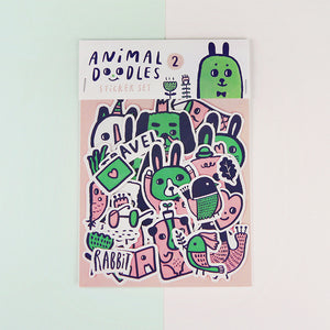 Animal Doodles 2 Sticker Set