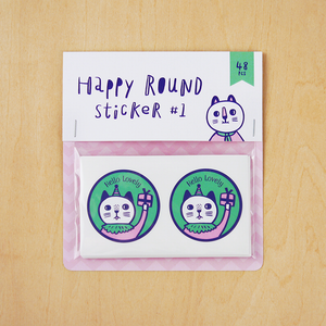 Happy Round Sticker #1 Sticker Set - Minifanfan