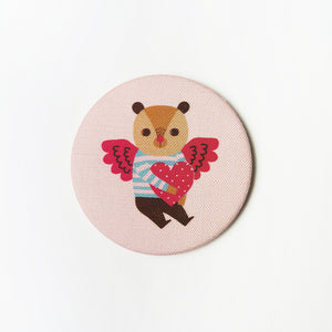 Love Parade (Angel) Fabric Covered Pocket Mirror
