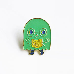 Ghost Reading Club Enamel Pin / Limited Edition
