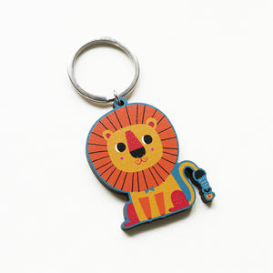 Be Brave and Kind Printed Wooden Keychains