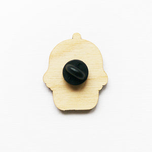 I Love Reading Printed Wooden Pin Badges