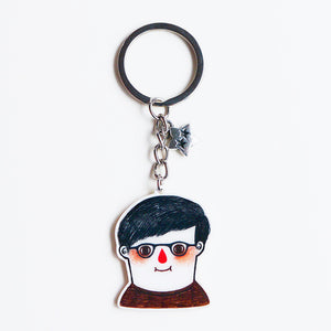 Custom Portrait Illustration - Shrink Plastic - Keychain or Pin