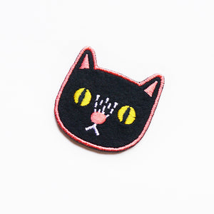 Black Cat Sticker Patch or Pin