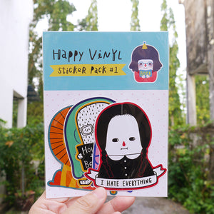 Happy Vinyl Sticker #1