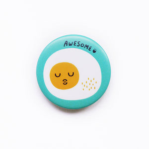 Awesome Egg Button Badge or Magnet