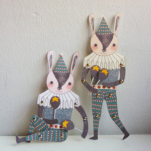 Mr. Rabbit - Articulated Paper Doll Set