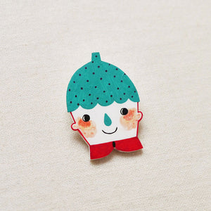 Cameron The Strawberry Kid Shrink Plastic Brooch or Magnet / Made to Order