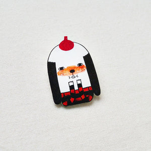 Nino The Painter Shrink Plastic Brooch or Magnet / Made to Order