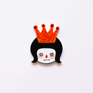 Alice The Princess Shrink Plastic Brooch or Magnet / Made to Order