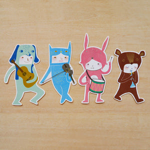 The Musicians Sticker Set