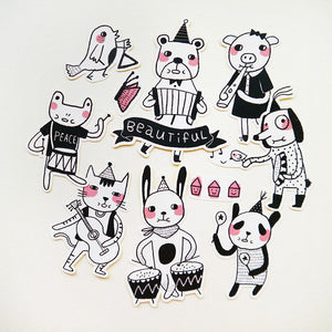 The Animal Band Sticker Set