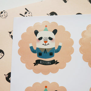 Blessing Panda Sticker Set
