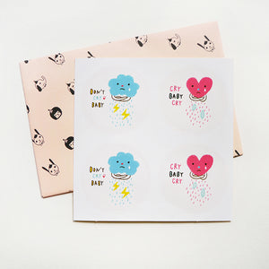 Don't Cry Baby & Cry Baby Cry Sticker Set