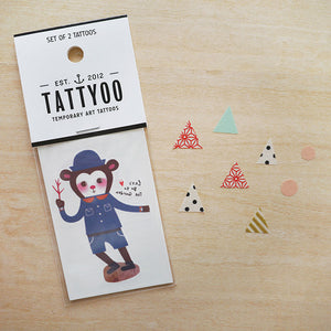 Let's Go to The Garden Temporary Tattoo