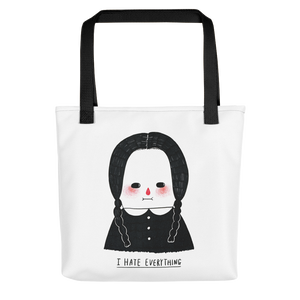 I Hate Everything - Wednesday Addams All-Over Print Tote