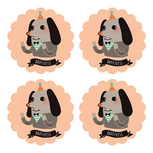 Happiness Dog Sticker Set