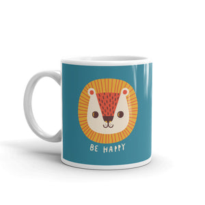 Be Happy Little Lion Coffee Mug