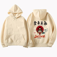 Chinese style Hip Hop Original printing couple streetwear Sweatshirts men's Hoodie Oversize Harajuku Pullover Hoodies Men 2019
