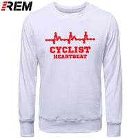 Mens CYCLINGer Cyclist Heartbeat Mountain Road Bike Funny Bicycle Men Casual LONG Sleeve Chinese Style Hoodies, Sweatshirts