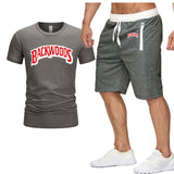 2021 Summer Hip hop fashion Men 'S Sets T Shirts Shorts Two Pieces Casual Tracksuit Brand New BACKWOODS Street fashion Sets