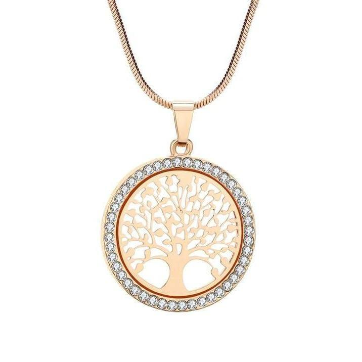 Diamond Tree of Life Necklace Gold