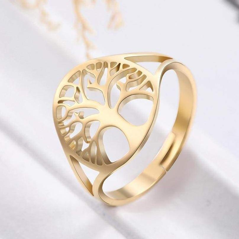 Gold Tree of Life Ring
