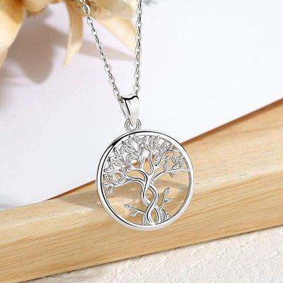 925 Sterling Silver Tree of Life Pendant Necklace