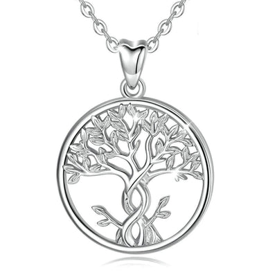 Tree of Life Pendant Necklace Silver