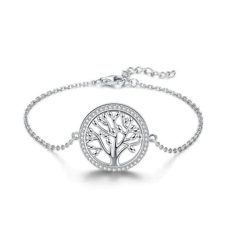 925 Sterling Silver Tree of Life Bracelet