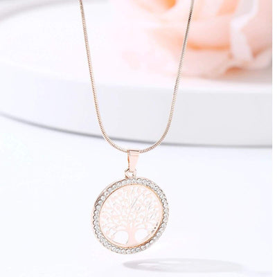 Tree of Life pendant Necklace Rose Gold