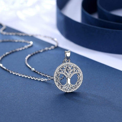 Tree of Life Pendant Necklace with Diamonds