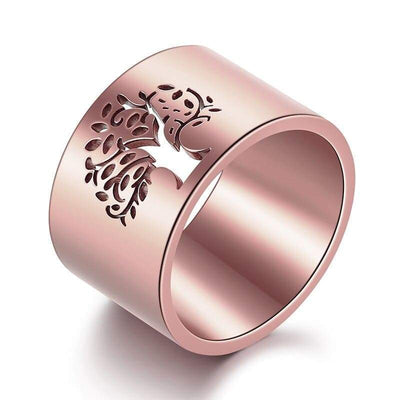 Rose Gold Tree of Life Ring