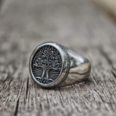 Tree of Life Signet Ring for mens