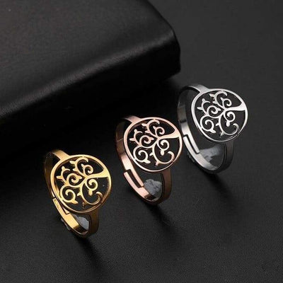 tree of life thumb ring