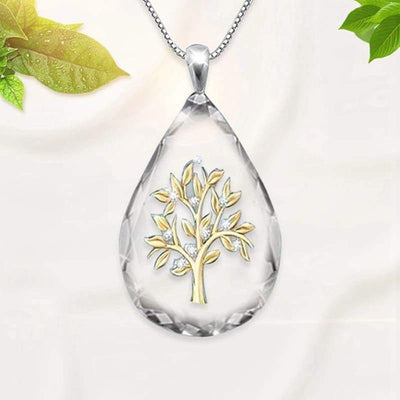 Water Drop Tree of Life pendant Necklace