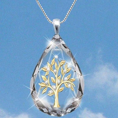 Water Drop Tree of Life pendant