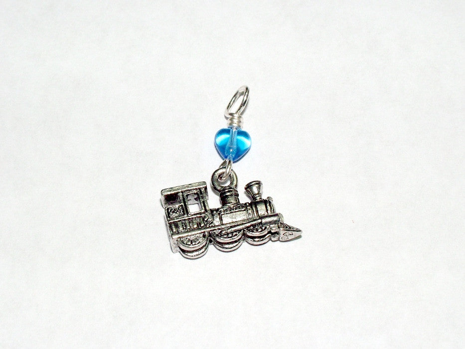 Pewter & sterling silver locomotive Pendant-train, trains, toy, RR,
