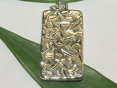 Pewter frame,mortar & Pestle print, sterling silver RX  pendant-resin,Pharmacist