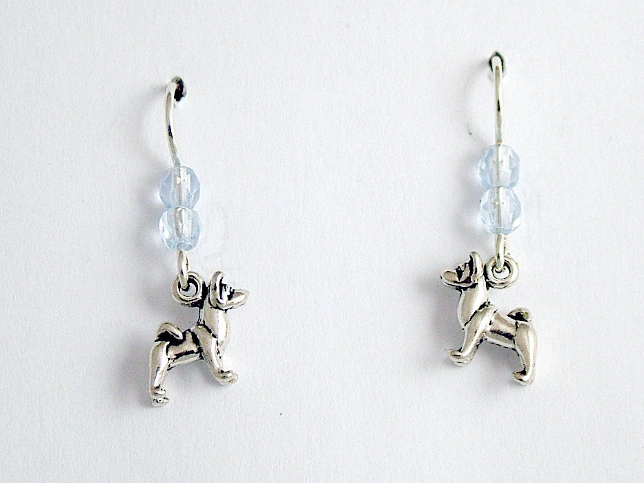 Sterling Silver tiny Akita Inu dangle earrings-dog- Shiba Inu, dogs, Akitas,