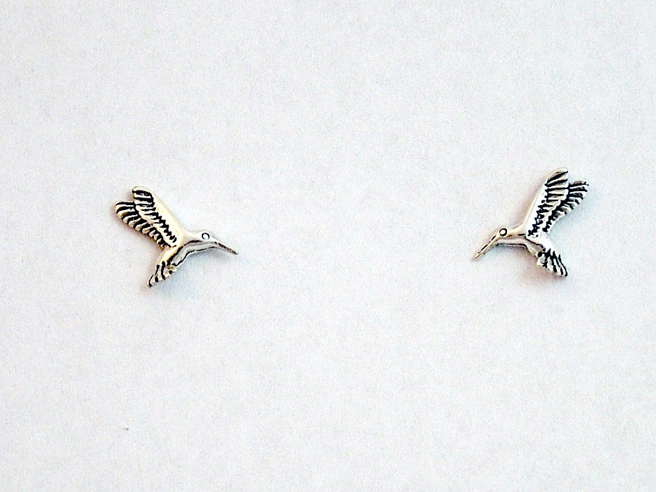 Sterling Silver and Surgical Steel hummingbird stud earring- bird- birds,humming