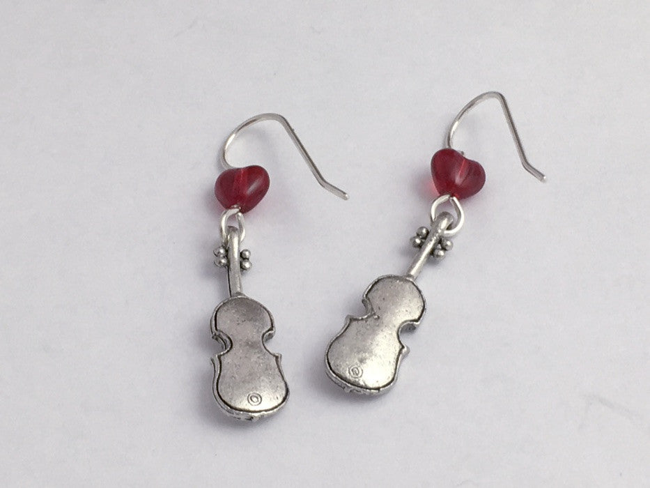 Music Jewelry Sets Violin Earrings Silver Pewter Violin Necklace Concert Band Gift Violin Necklace And Earring Set Violin Jewelry Set
