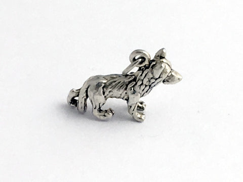 Sterling Silver 3-D German Shepherd dog charm or pendant-dogs, K-9 ,canine