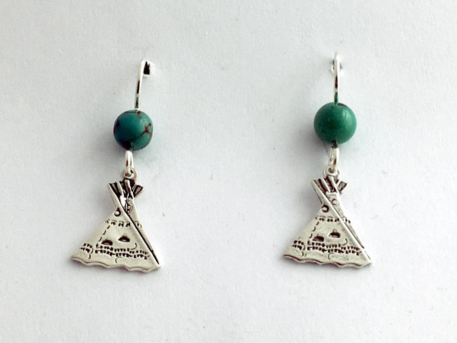 Sterling silver Tipi, Teepee, Tepee, Turquoise, Native, Plains, Shelter